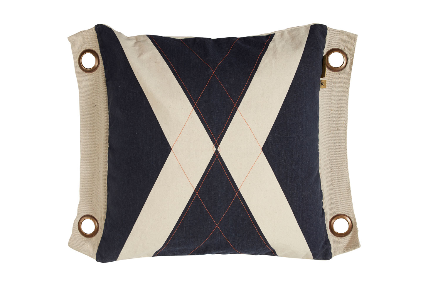 World Flag Cushion - Black