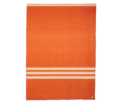 Wanderluster Merino Blanket - King Single Orange