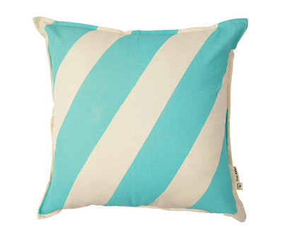 Basic Stripe Cushion Cover - Mint Blue