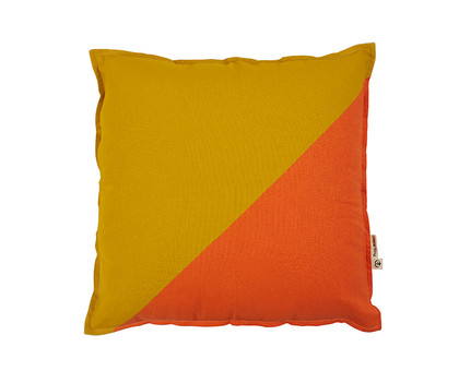 Opposites Attract Cushion - Ochre / Orange