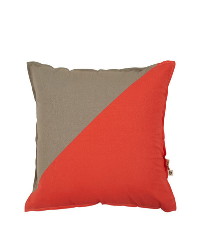 Opposites Attract Cushion - Grey/Coral