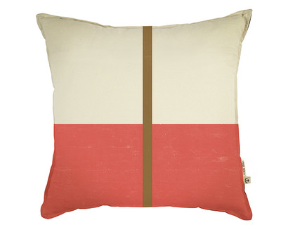 The Tate Cushion  - Mandarin Red