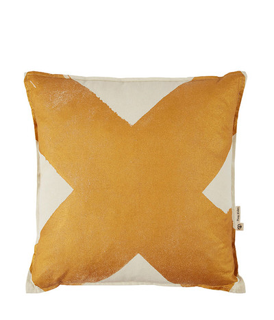 X - Metallic Cushion - Bronze