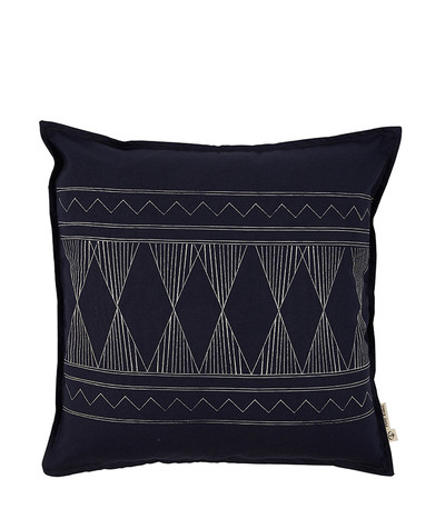 Stormy Times Cushion - Dark Indigo