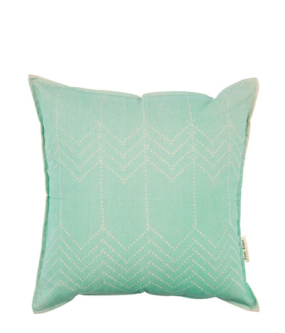 Running Bear Tulum Green Cushion