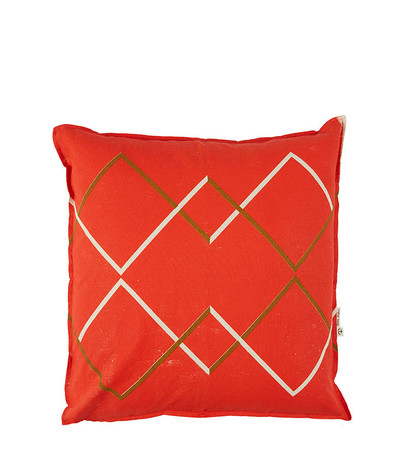 Going North Cushion - Mandarin Red / Earth
