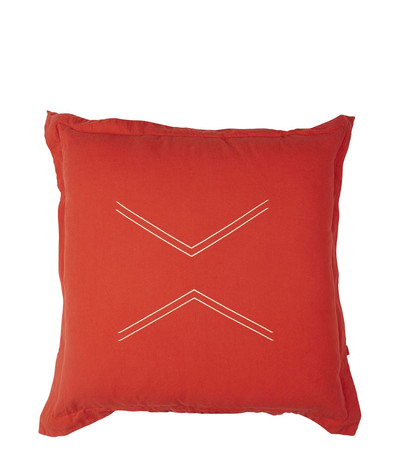Nomads Cushion - Mandarin Red