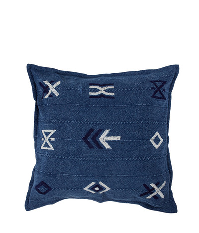 Hieroglyphic Cushion - Indigo (60*60)