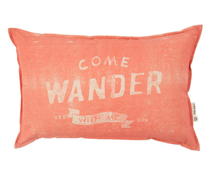 Come Wander Cushion Cover - Coral