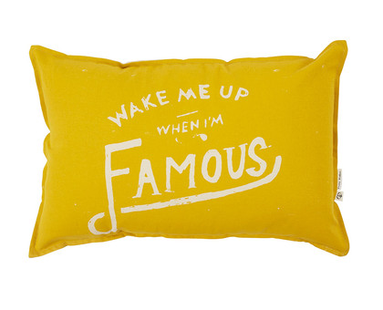 I'm Famous Ochre Cushion