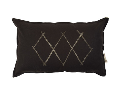 Small Diamonds Cushion - Black