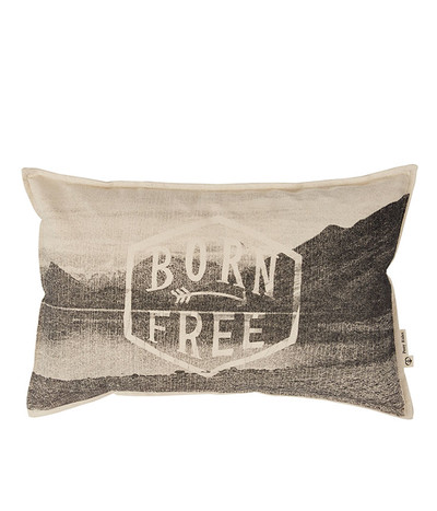 Born Free Cushion Cover - Charcoal 55*35