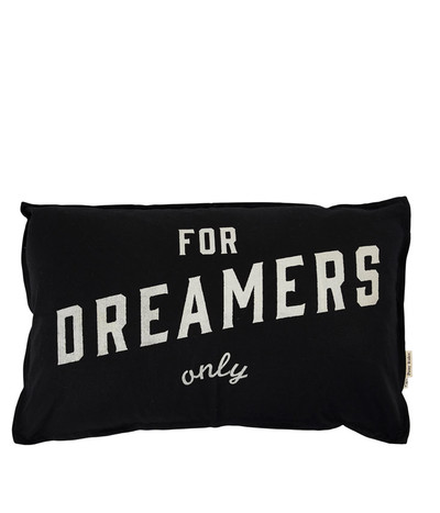 Dreamers Only Black Cushion