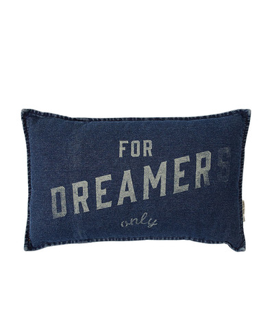 Dreamers Only Denim Cushion