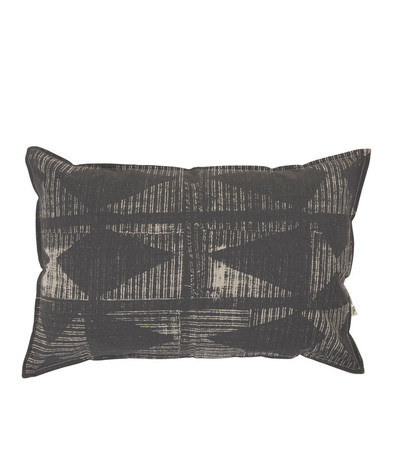 Lil Patched Cushion - Nat / Blk