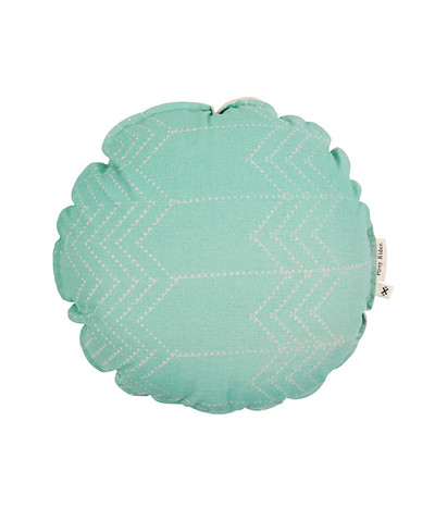 Running Bear Mint Green Round Cushion