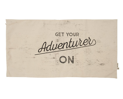 Adventure Camp Cushion - Natural / Black 85*45
