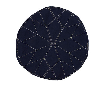 Star Gazer Cushion Dark Indigo