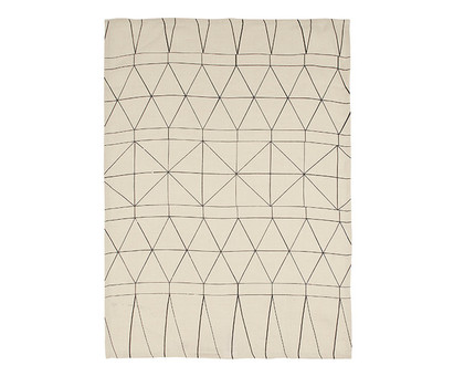 White Traveller Tea Towel
