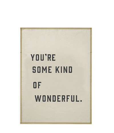 You're Wonderful Tea-towel - Gold