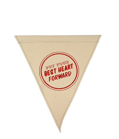 Best Heart Forward Wall Flag
