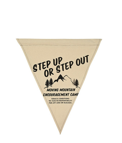 Step up Wall Flag