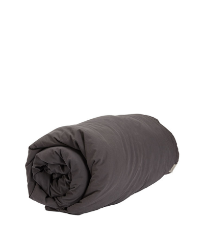 Organic Canvas Duvet | Charcoal | Queen