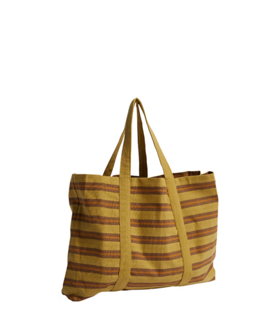 Safari Stripe Sack Bag | Golden Tan | Large