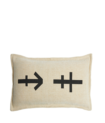 Lil Commune Cushion | Nat/Black | 35*55