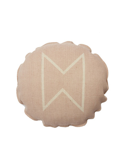 Fireside Round Cushion | Rose Dust/Nat | 50*R